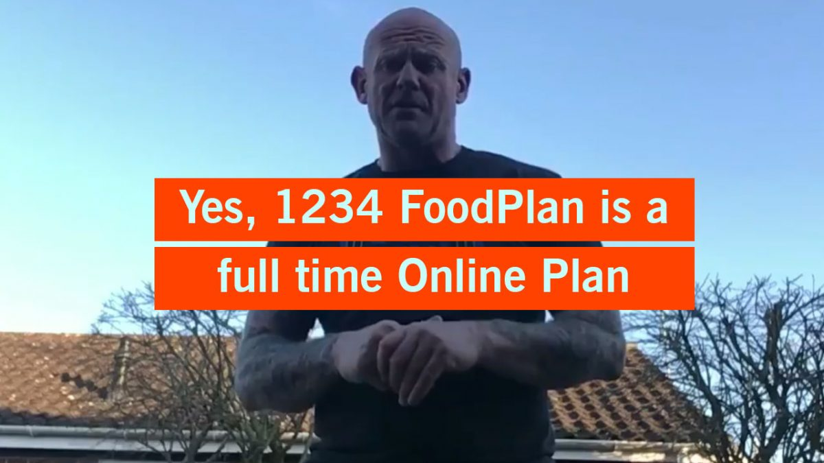 Book an Online Consultation with Ben Rickwood & set up your 1234 FoodPlan