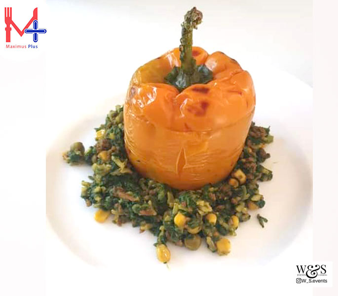 Stuffed Pepper with Spicy Mince & Spinach