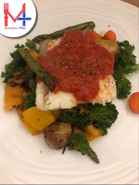Cod with Root veg & Kale