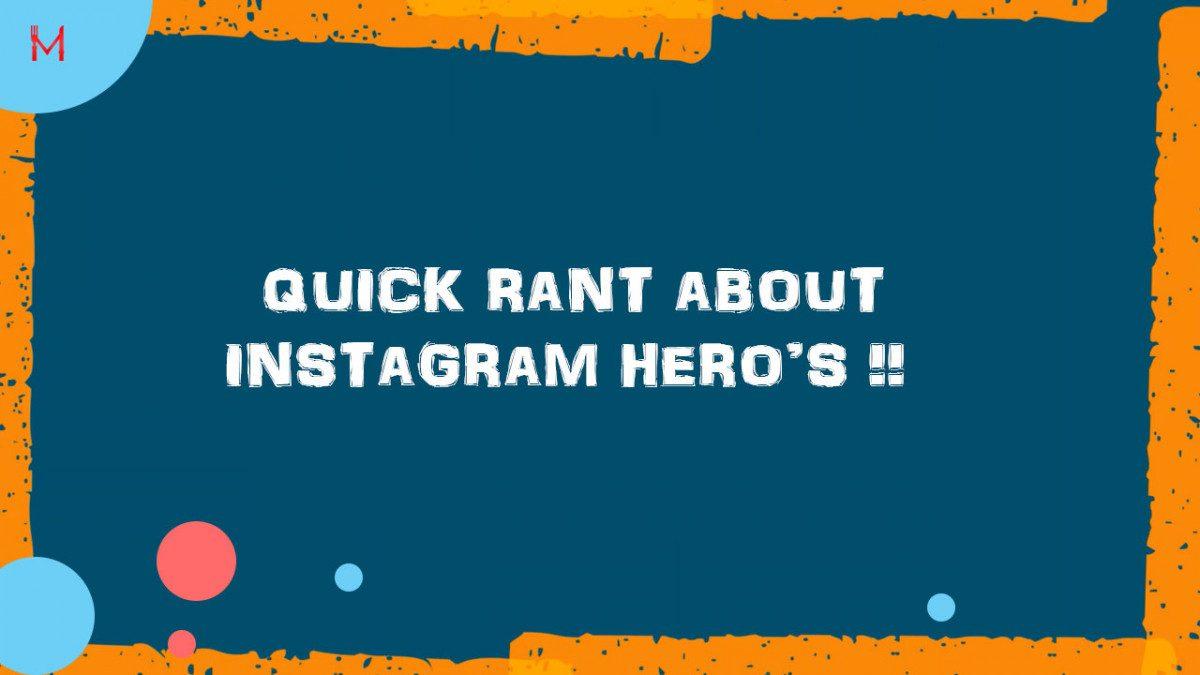 Quick rant about #Instagram hero's with Ben Rickwood